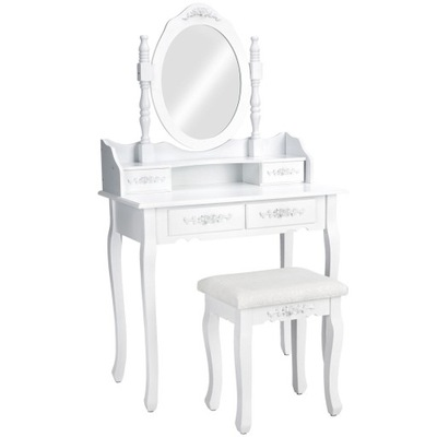 ТУАЛЕТНЫЙ столик и КОСМЕТИЧЕСКОЕ ? зеркалом белая + Табурет