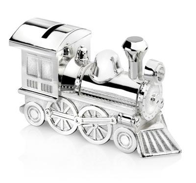 Pokladničky Striebro prasiatko vlak lokomotíva KRST RYTEC