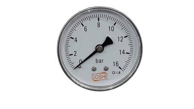 Manometer 16 bar GOSHE fi 63 mm spätný tlakomer
