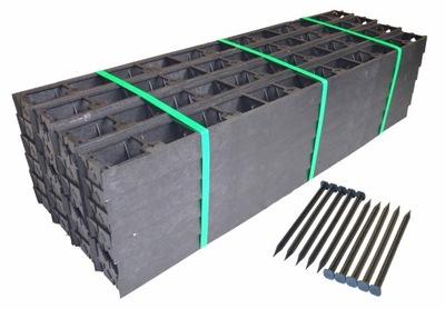 Plôtik, palisáda, obrubník - Hranica hrany 58mm 100m + kotvenie