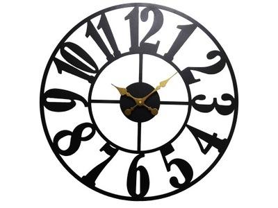 Cichy zegar ścienny Glamour połysk 40 cm Cyfry