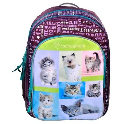Školské tašky - ŠKOLSKÝ BATOH S MAČKA MAČKA MAČKA PRE DIEVČA