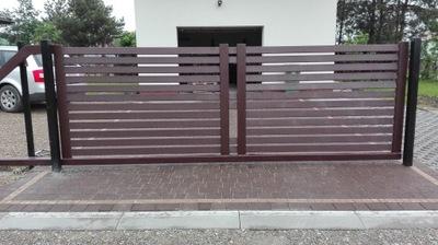 Brama wjazdowa przesuwna samonośna + furtka