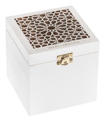 Organizér, kufrík, skrinka - PUDEŁKO ażurowe na BOMBKĘ prezent ŚWIĘTA ozdoba