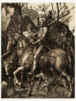 Albrecht DURER Рыцарь, Дьявол и Смерть 1513 года.