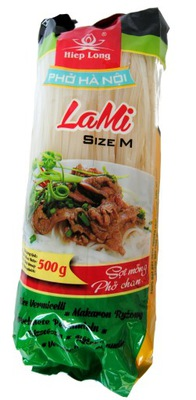Рисовая лапша тесьма 4 мм без Глютена 500 г