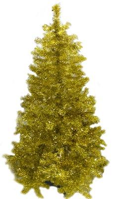 Vianočné stromčeky - Strom zlato Umelé Husté Lesklý 185 cm