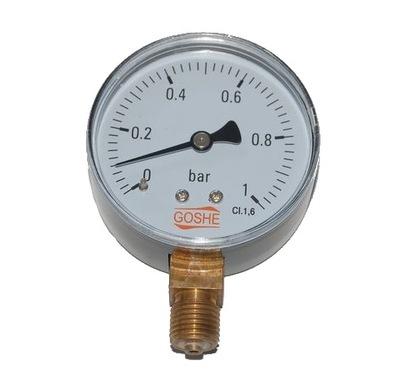 Manometer 1 bar GOSHE fi 63 mm, manometer dole