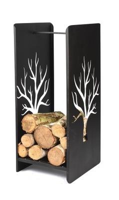 BASKET na čierne moderné krb na drevo košoch