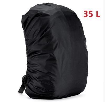 Pokrowiec przeciwdeszczowy na plecak - 30-40 L blk