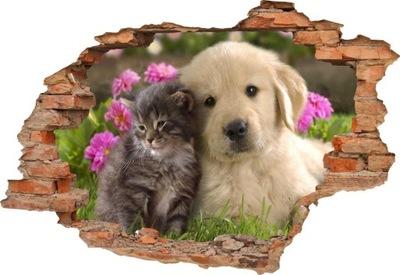 Steny odtlačkový ZVIERAT, Pes, Mačka 3D 190x131
