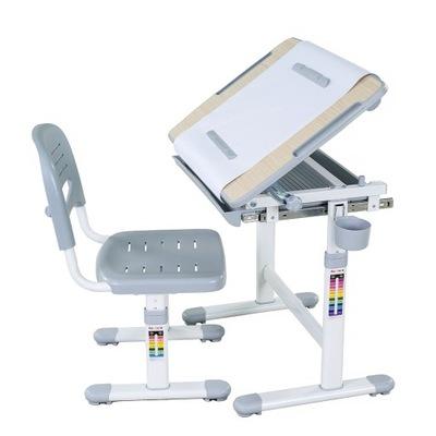 Стол + Стульчик Для ребенка комплект Бамбино Grey