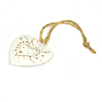 металлические подвески белое сердца 1 штук / 5 см