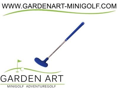 Kij putter mini golfowy niebieski h55 m MINIGOLF