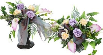 VEĽKÉ kytice headpiece a KYTICE na cintorín NAŽIVE