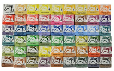 RENESANS AKWARELE W KOSTKACH 1,5 ml 54 kolory