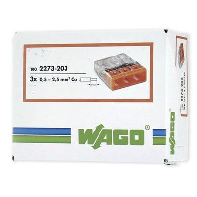 Быстроразъемное соединение WAGO НА проволока 3x0,5 -2 ,5мм2 100шт