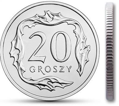 20 gr groszy 2001 mennicza mennicze z woreczka
