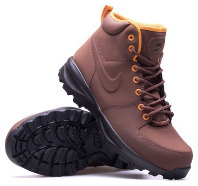 stylowe zimowe buty męskie wysokie skóra nike