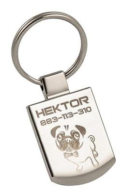 металлический Идентификатор кулон adresówka гравер