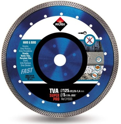 TVA RUBI SUPERPRO 125 diamantový kotúč na žula