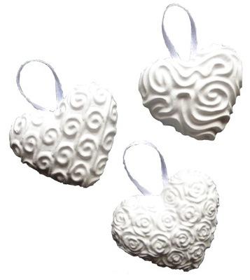 фигурки Гипсовые сердца сердечки из гипса 10 штук