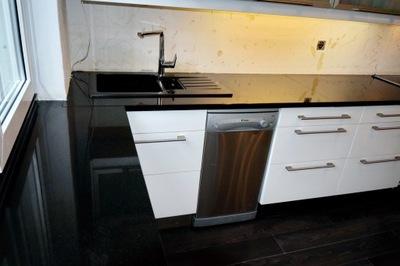 Столешницы Гранитные Кухонные Ванной черные белое