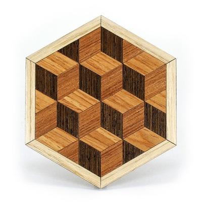 ШАЛОСТИ 3D | подкладка деревянная иллюзия оптическая