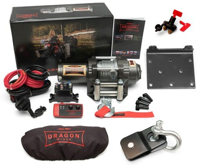 ЛЕБЕДКА DRAGON WINCH DWH3000HD 1,3T QUAD КОМПЛЕКТ