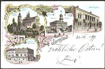 JAROSŁAW Ratusz zamek kościół kasyno 1899