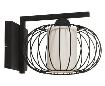 Svietidlá - Czarny nowoczesny kinkiet lampa na ścianę ZOE