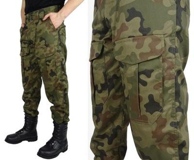 Spodnie Wojskowe BOJÓWKI POLSKIE MORO Z GUMKĄ M/S
