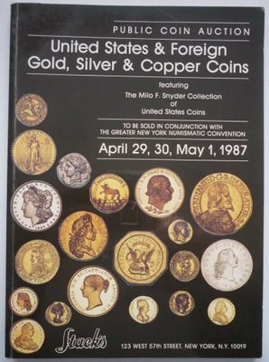 Каталог аукциона монет Стакс 1987.