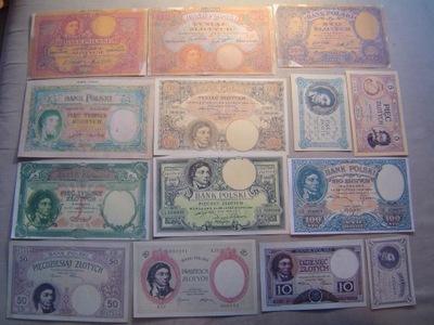 комплект КОСТЮШКО 1919  ???  - 14 банкнот
