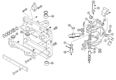 Sworzeń Górny + Tailpins CASE 580 K / SK / SLE / SM