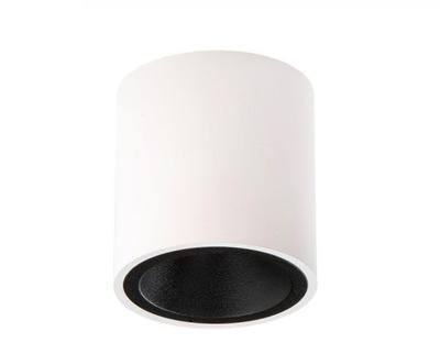 Svietidlá stropné a stenové svietidlá - PLAFON LAMPA NATYNKOWA BIAŁO-CZARNY PAR16 GU10 LED