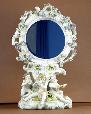 стоящие фарфор зеркало -