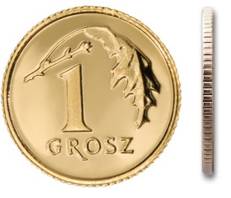 1 gr grosz 2009 mennicza mennicze z woreczka