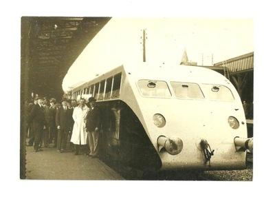 Открытка - Этторе Бугатти и его знаменитый поезд