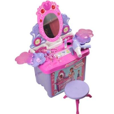 Detský toaletný stolík - márnosť tabuľka Malá Princezná ZRKADLO PRÍSLUŠENSTVO hrudníka
