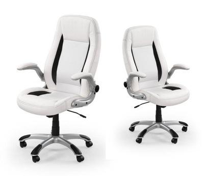 kancelárska otočná stolička SATURN 3 farby BIELA