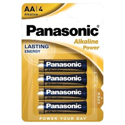 4x BATERIA alkaliczna PANASONIC AA 1.5V LR06 R6