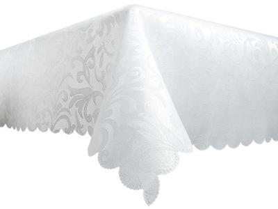 СКАТЕРТЬ пятноотталкивающий 140x220 Белый бежевый 100 % качество