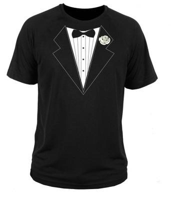 94d3e31a1d9d1 koszulka t-shirt garnitur krawat mucha weselna - 7405337009 ...