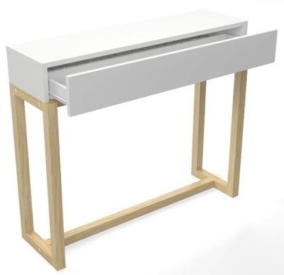 белая Консоль комод, туалетный столик Стиль скандинавский