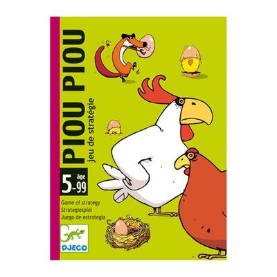 DJECO Gra karciana PIOU PIOU kurczaki jajeczka