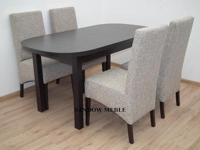 OWALNY ROZKŁADANY stół z krzesłami TANIO okazja