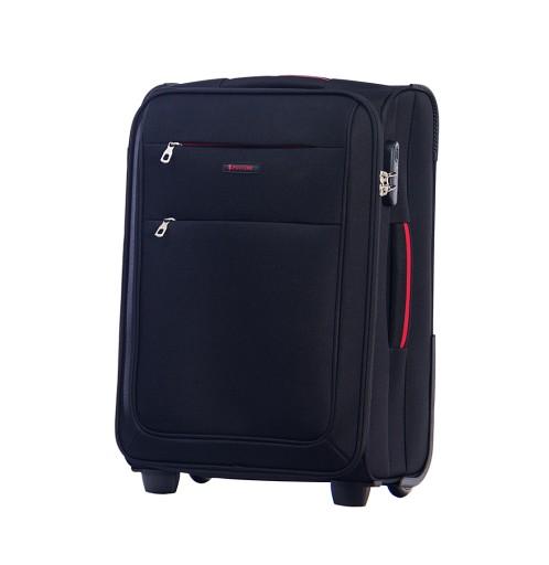 176c1ecd17626 Miękka walizka na kółkach Puccini czarna kabinówka 7485565766 ...
