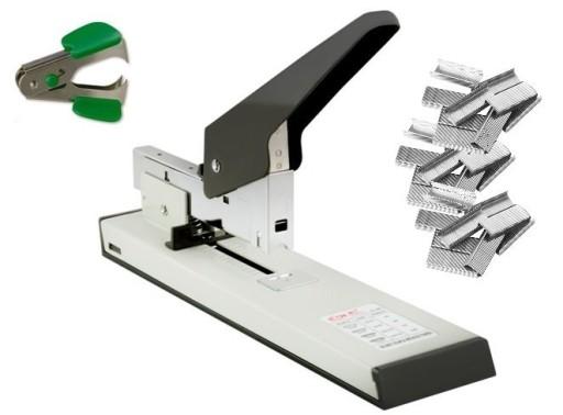 Metalowy zszywacz biurowy do 100kartek +zszywki x3
