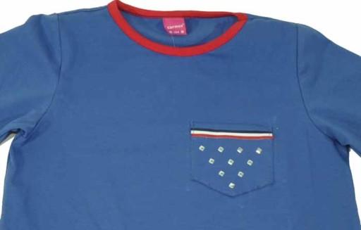 Carmen 081719 bluzka niebieska 146